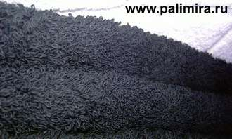 Черные махровые полотенца оптом и в розницу Российского производства