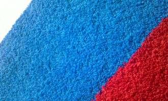 Полотенце флаг Российской Федерации выполненое на махровом полотне пестротканым способом