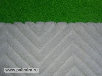 Махровая ткань с рельефным рисунком в структуре махры