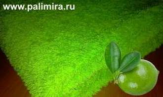 Полотенца лайм цвета имеющие яркую и насыщенную окраску одноименного фрукта