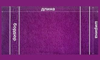 Стандартные размеры полотенец производимые фабрикой Пальмира