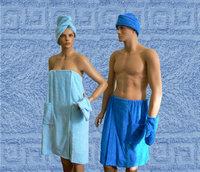 Махровые комплекты для сауны, женский и мужской